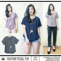 Feather Tessel Top/blouse/atasan wanita