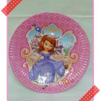 piring kertas kue ulang tahun pesta party karakter sophia sopia sofia