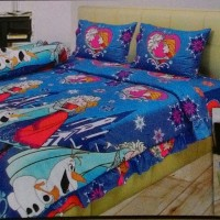 Jual Sprei merk Illusions Disperse 3D Blue Frozen /King 180x200 (Promo) Murah