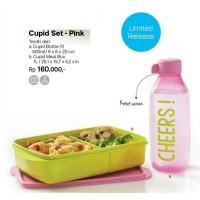 Jual Tupperware Cupid Set Pink Paket Tempat Makan dan Minum Murah