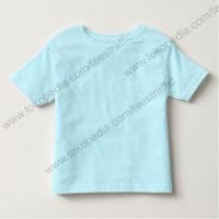 Jual Kaos Polos Anak Cotton Combed 30s Light Blue Kaos Polos Biru Muda Murah