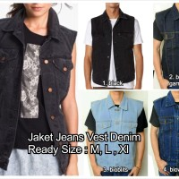 jaket jeans vest model levis jean rompi denim unisex tanpa lengan oke