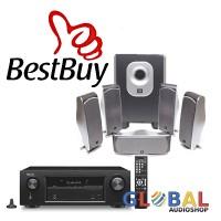 Jual JBL Cinema SCS-260 Speaker 5.1ch Denon AVR-X520 BT Paket Home Theater Murah