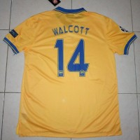 Jersey Arsenal Away 2013 - 2014 NNS WALCOTT UCL Full Patch