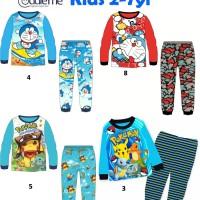 Jual Baju/Piyama Anak Cuddle Me Doraemon, Pokemon Murah