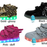 sepatu anak dance lampu led ada charge (1132)