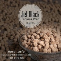 Tapioca Pearl Jet Black 1kg - Jakarta Bubble Drink - Powder Minuman