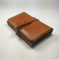 Jual Dompet kartu SIM ATM STNK kulit sapi asli warna tan | Card wallet Murah