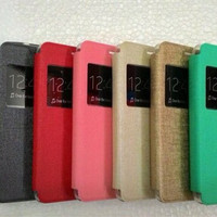 Flipcover Samsung J2 Prime Leather Case / Sarung Buku HP