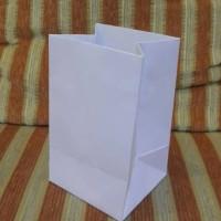 PAPER BAG KERTAS BC PUTIH DOF. uk P10x L8 x T15