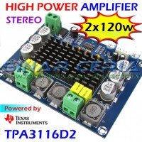TPA3116 Hi Power Amplifier 2x120w Digital Stereo Audio Ampli TPA3116D2