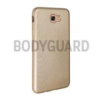Samsung J7 Prime iZORE Carbon Fiber Soft Case Cover Jelly GOLD