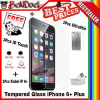 [PAKET 4 In 1] Tempered Glass iPhone 6+ Plus |Banyak Gratisan BeNDoeL