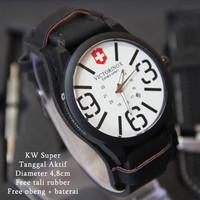 Victorinox Combo Leather Hitam plat Putih