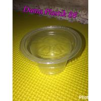 gelas 50ml + tutup @50pc / gelas plastik cup bening kecil agar puding
