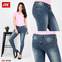 Jual Celana Big Size Skinny Jeans Wanita Denim Pensil Jumbo 9132 ORIGINAL Murah