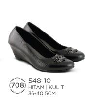 Sepatu Wedges Kulit Wanita / Sepatu Formal Wanita Azzurra ( 548-10 )