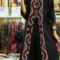 Coat Baju Tenun Blanket Etnik