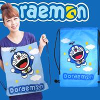 Jual Tas Serut Ransel Doraemon Goodie Tote Bag Hello Kitty Adidas Nike Puma Murah