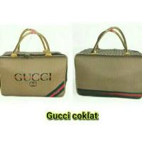 Tas Travel Bag Koper Kanvas Renang Besar Anak Dewasa Motif Gucci