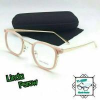 Frame kacamata linda parow untuk pria dan wanita free lensa