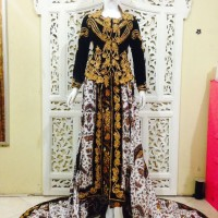 Kebaya Pengantin Bludru ekor Prada / EK179 / Kebaya Jawa Modern Muslim