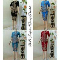 Dress / Setelan Kebaya Batik Jennifer Kerang Pendek