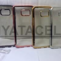 Case List Chrome Samsung Galaxy S6 Flat G920/TPU/Softcase/Silikon/Crom