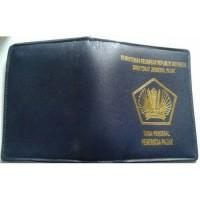 Dompet id card bahan kulit sapi asli / dompet karyawan kantor pajak