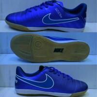 Sepatu Futsal Nike Tiempo Legend Biru list Putih Grade Ori