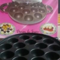 Jual Cetakan Kue pofertjes takoyaki maker Snackmaker Teflon 15 lubang Murah