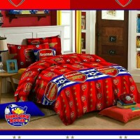 Bedcover Set Katun Arsenal, 200x200, Bed Cover Sprei Seprai Klub Bola