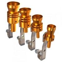 Gold Exhaust Fake Turbo Whistler Pipe Sound Muffler