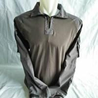 combat shirt/kaos bdu/kaos tactical dark grey/abu tua lengan panjang