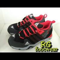 Grosir sepatu outdoor ax2 black grey red kets modern murah