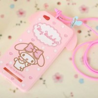 Xiaomi Redmi 4A 3D My Melody Bow Neck Strap Silicone Phone case