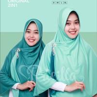 Green Tea L - Jilbab Instan Bolak-balik Syari 2 in1 Pricilla - P3