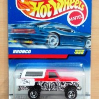HOT WHEELS FORD BRONCO 4-WHEELER RED WITH WHITE TOPPER 1998 #859