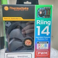 Fan Casing Thermaltake Riing 14 RGB Combo (3x Fan & 1 Controller)
