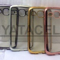 Case List Chrome Samsung Galaxy Core 1 I8260 I8262/TPU/Softcase/Soft