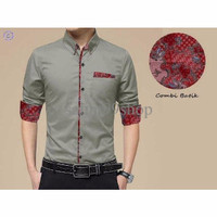 style Baju Kemeja Tristan Abu; ( Baju Kemeja Pria, Baju Kemeja Fashion