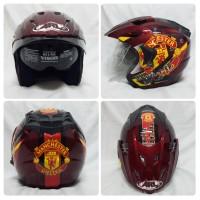 Jual Helm Club Bola Manchester United Merah Murah
