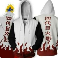 sweater fleece tebal/jaket hoodie anime HOKAGE PUTIH ziper