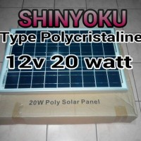 harga Panel Surya Shinyoku 12v 20 Watt Peak Tokopedia.com