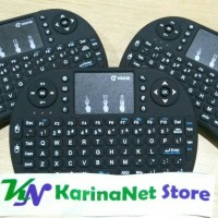Mini Keyboard Wireless i8 Touchpad 92 Key Fly Air Mouse Baterai AAA
