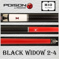 Poison Black Widow BW2-4 Pool Cue + Poison Case|Billiard Stick|New-Ori