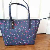 Fossil Emma Tote P2 Navy Dot