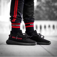 fa2e6242c Yeezy Boost 350 V2 Black Red UA(Unauthorised Authentic)