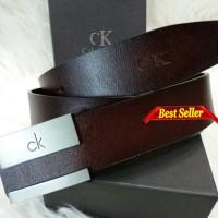 Ikat pinggang / belt / Gesper Pria Wanita CK kulit asli import Murah