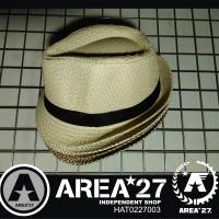Jual DISC PROMO Topi Fedora Jerami Teksture Import Straw Hat HAT0227003 Murah